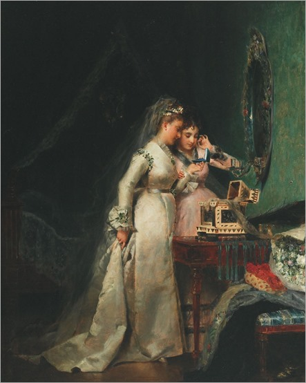 ADOLPHE WEISZ (1838 - AFTER 1900) - HER WEDDING DAY