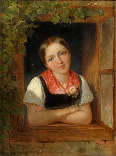 Albert_Decker_Mädchen_am_Fenster_1856