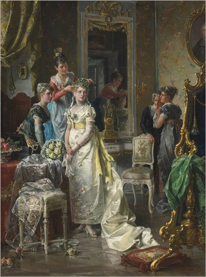 Сarl Herpfer (1836-1897) Dressing of bride