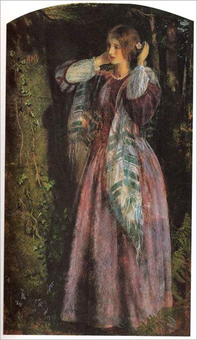 Arthur Hughes - Amy. 1857. Birmingham Art Gallery