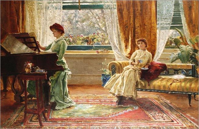 Arthur Trevor Haddon (British, 1864-1941) - An elegant interior