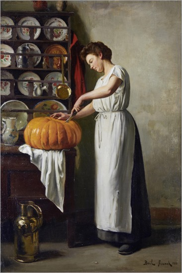 Carving the Pumpkin-by- Franck Antoine Bail