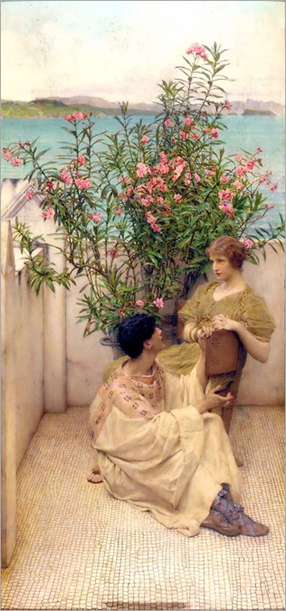 Courtship-Sir Lawrence Alma Tadema (dutch-british, 1836-1912)