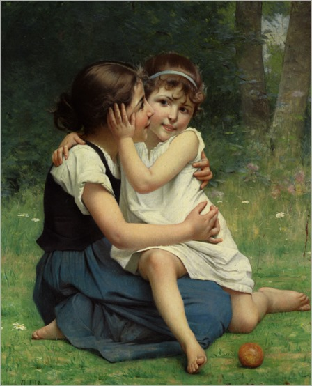 Delobbe_Francois_Alfred_Sisterly_Love_1892