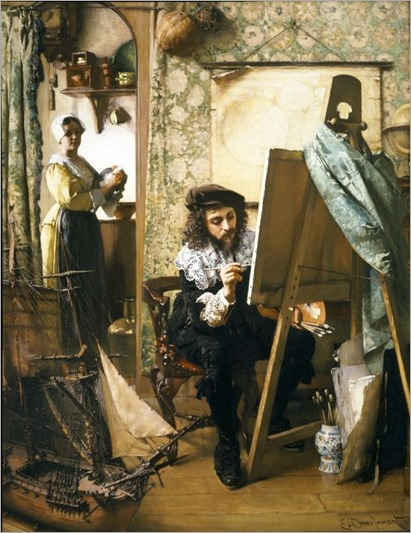 Eduard Charlemont, Artist in his Studio, c. 1890