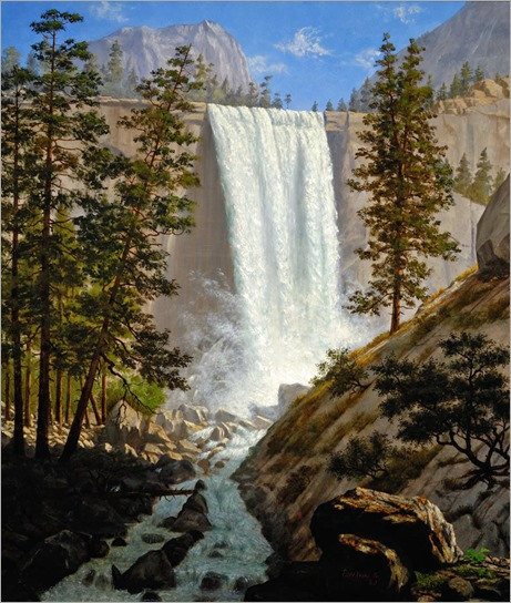 Enoch Wood Perry (american-1831-1915)- Vernal Falls, Yosemite Valley 1863
