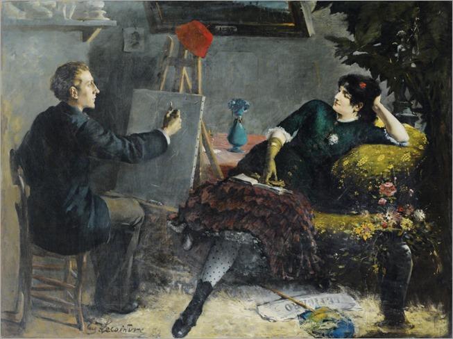 ETIENNE-FRANÇOIS-EUGÈNE LECOINDRE_POSING FOR THE ARTIST_1024x762