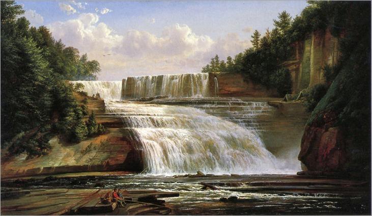 Ferdinand Richardt (american)- Trenton High Falls 1858