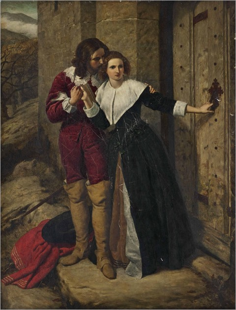 Frederick Richard Pickersgill (1820 - 1900) - Being held a foe, he may not have access to breathe such vows as lovers use to swear, Romeo and Juliet, Act II, Prologue