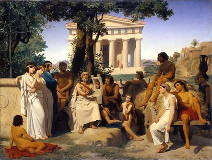 Homer-1841-Jean-Baptiste Auguste Leloir (Paris, July 1, 1809 - Paris, March 8, 1892)