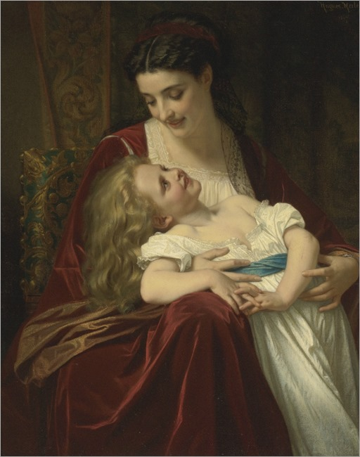 Hugues Merle - 1867- Maternal affection