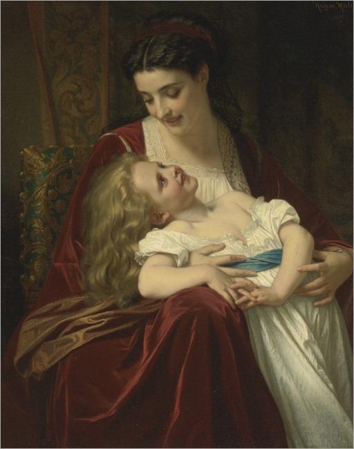 Hugues Merle - 1867- Maternal affection