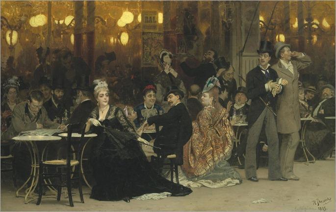 Ilya Repin (1844-1930) - A Parisian Café