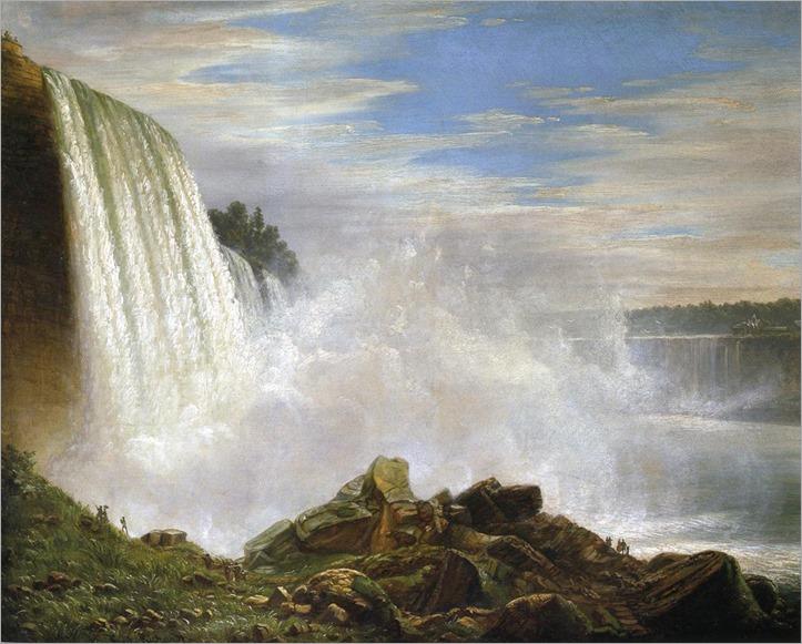 Joachim Ferdinand Richardt, 1819-1895_american- View of Niagara Falls