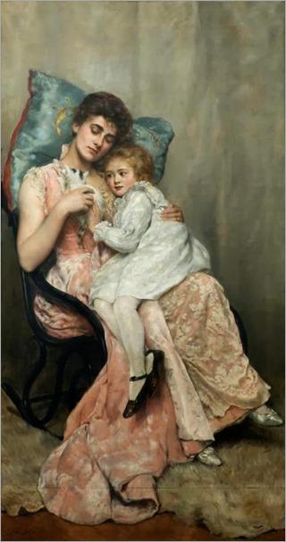 John Collier - Nettie and Joyce ca.1890