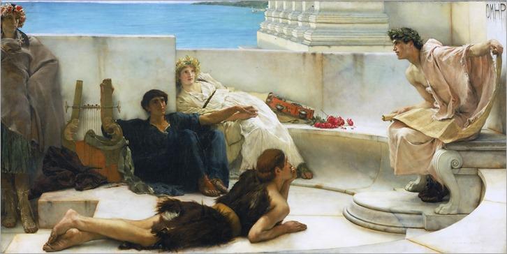 Lawrence Alma-Tadema - A Reading from Homer -1885