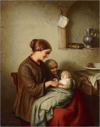 Meyer_von_Bremen_Das_erste_Lächeln (O primeiro sorriso)_1853