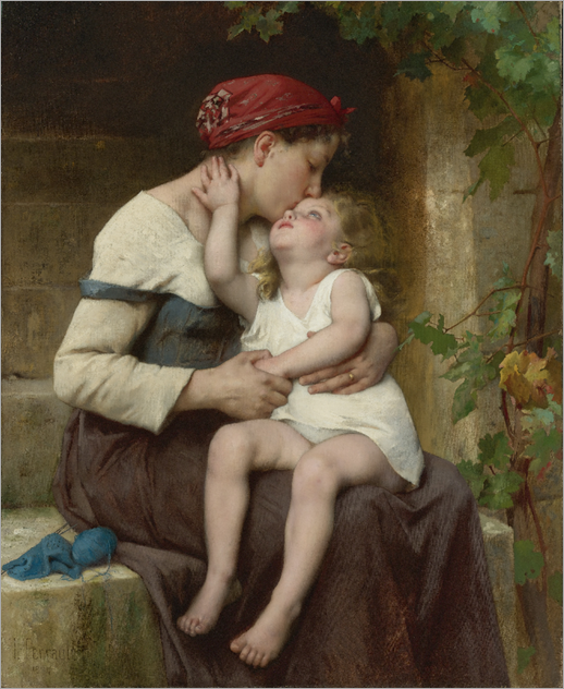Mother with Child - Leon Perrault