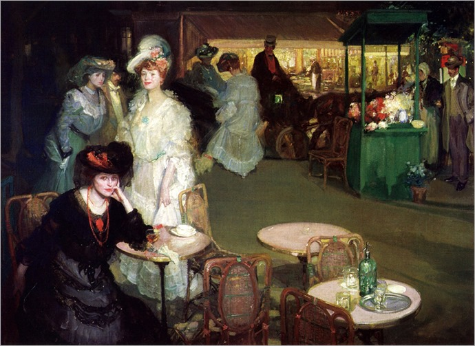 Nightcafe -1906- Richard Edward Miller (american painter)