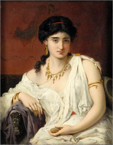 Pierre Coomans_Portrait_Of_A_Young_Woman_In_White