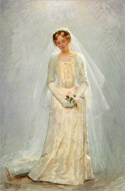 Portrait of a Bride - Laurits Tuxen (danish painter)