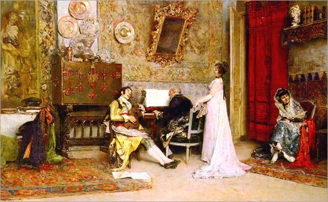 Raimundo de Madrazo y Garreta - The Music Lesson