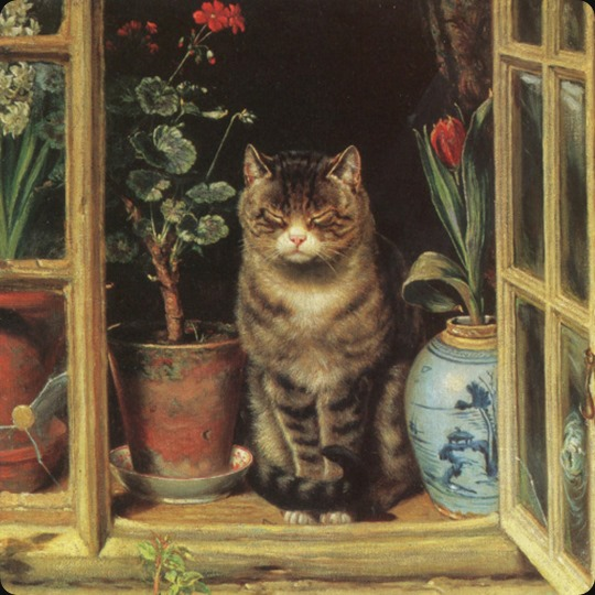 Ralph Hedley - Cat in Cottage Window