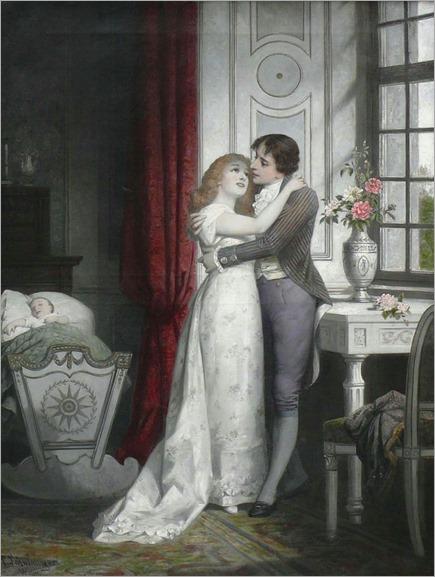 Schweninger, Carl ( 1854 - 1903) Junges Paar