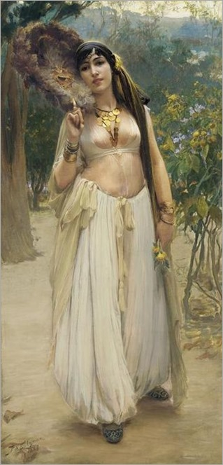 Summer Evening - Frederick Arthur Bridgman (american painter)