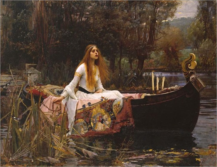 the lady of shalott-Waterhouse