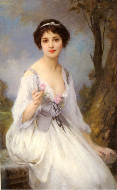 The Pink Rose. Charles-Amable Lenoir (French, Academic, 1860-1926)