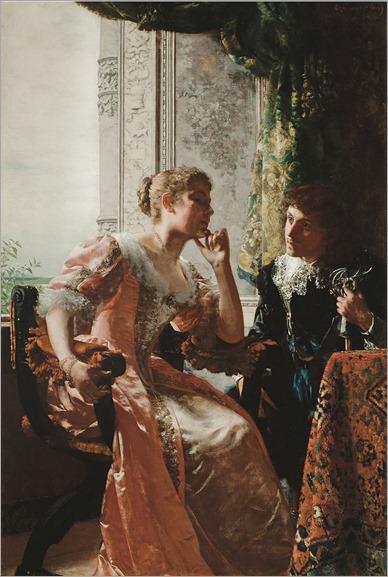 Władysław_Czachórski_-_Bałamuctwo_flirtation (1889)