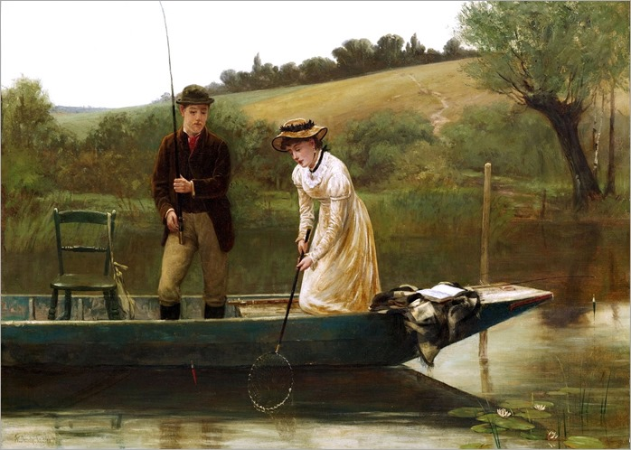 Walter Dendy Sadler (1854-1923) - NETTING THE CATCH
