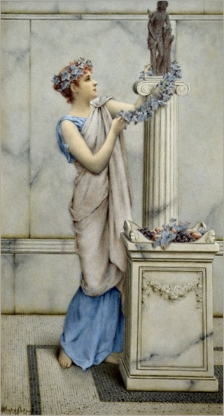 William-Anstey-Dolland (1858-1929)_Classical maiden