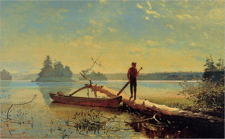 Winslow Homer - An Adirondack Lake