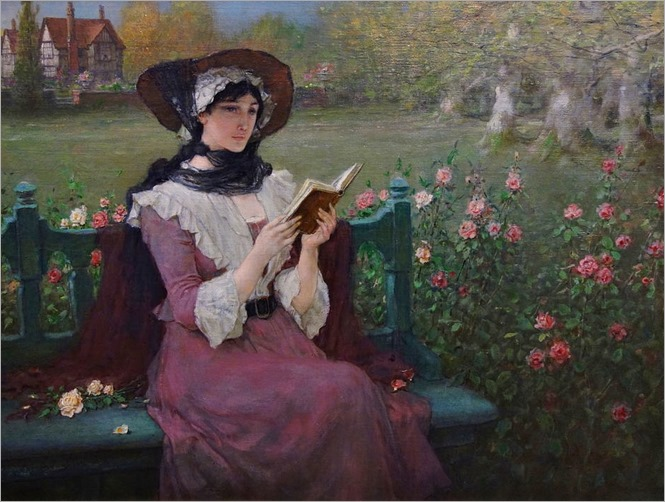 Woman_Reading_by_George_Henry_Boughton,_c._1900_Albany_Institute_of_History_and_Art