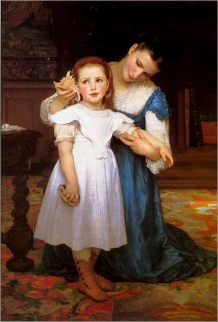 Adolphe William Bouguereau, The Shell