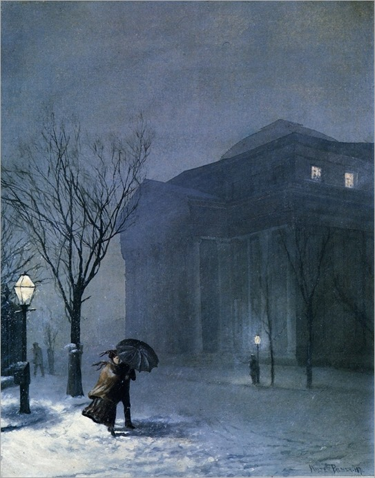 Albany in Snow - Walter Launt Palmer-1871