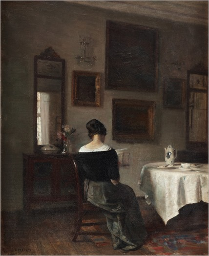 At the Breakfast Table. Carl Vilhelm Holsøe (Danish, 1863-1935)