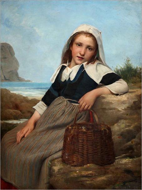 Charles victor thirion (french, 1833-1878)le retour de la pêchetoile