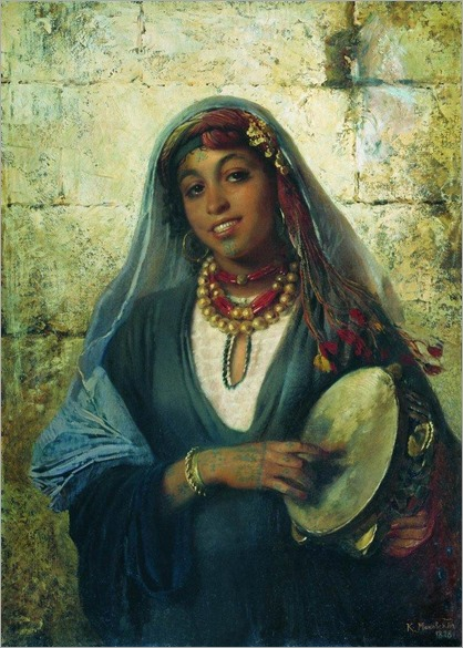 eastern-woman-gipsy by Konstantin Makovsky