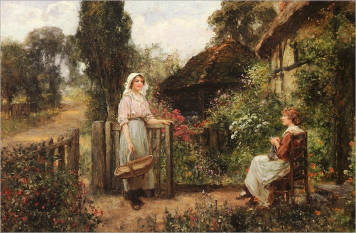 friendly_neighbors- Henry John Yeend King (1855-1924)