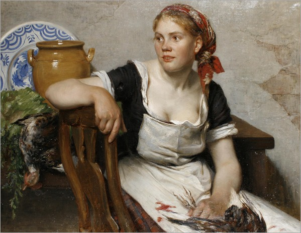 Johan Oscar Cantzler (1844 - 1921) - The kitchen girl, 1884