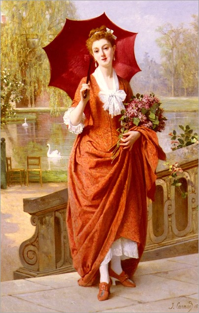 JosephCaraud-the_red_parasol