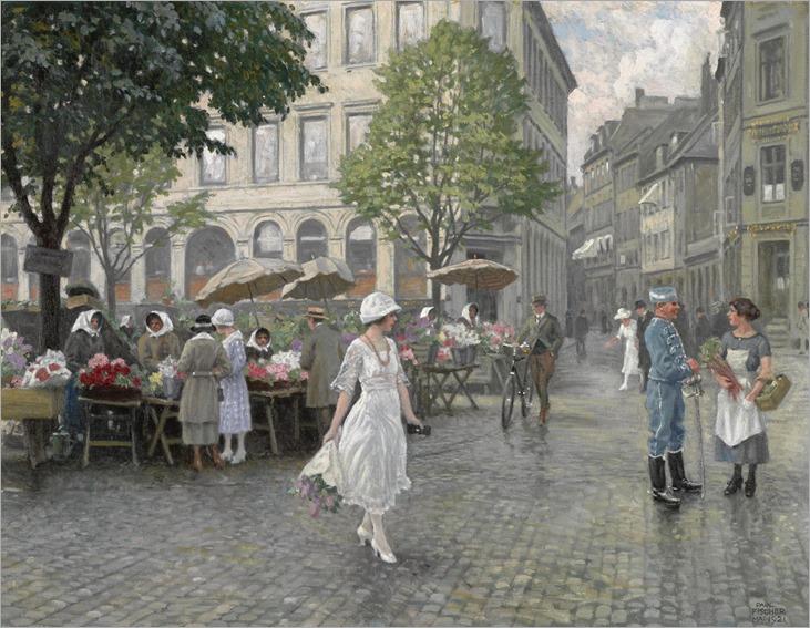 Paul Gustav Fischer - Højbro Plads, København [1921]