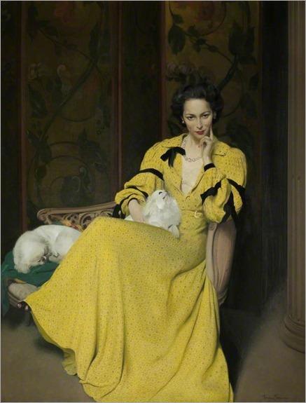 Pauline in the yellow dress, 1944-Herbert James Gunn