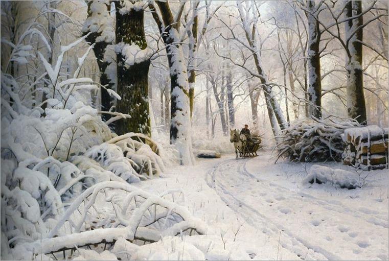 Peder_Mørk_Mønsted_-_Wood_in_snow