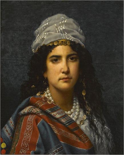 The gypsy girl by Jan Portielje (Dutch, 1829-1908)