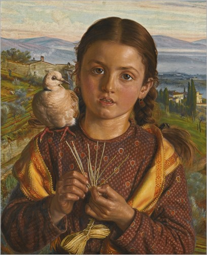 William Holman Hunt (1827-1910) Tuscan girl plaiting straw