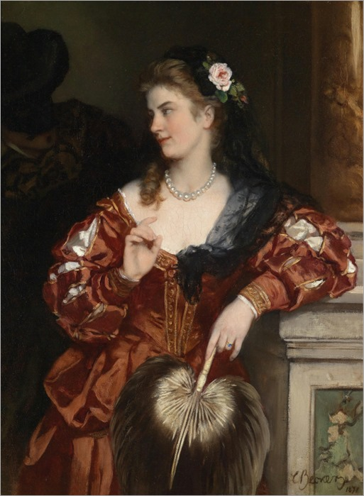 A Young Lady with a Rose in Her Hair_Carl Ludwig Friedrich Becker